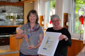 Gundi Voss erhält 2014 den Kinderfreundlichkeitspreis des Kinderschutzbundes Gevelsberg